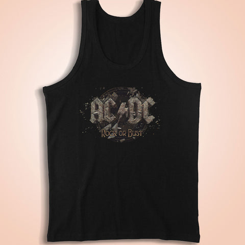 Ac Dc Rock Or Bust Tour Men'S Tank Top