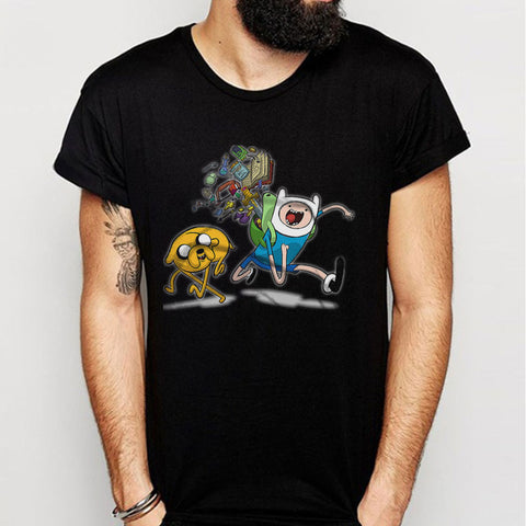 Adventuretime Funny Run Scarry Men'S T Shirt