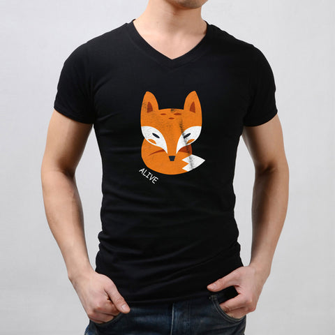 Alive Little Fox Men'S V Neck