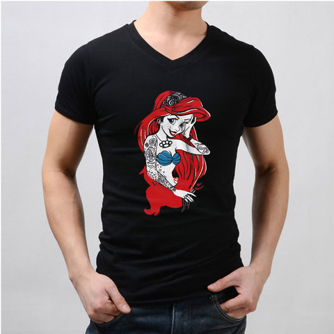 Ariel The Little Mermaid Punk Rock Men'S V Neck
