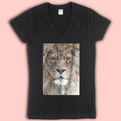 Art Lion Diamond Mosaic Women'S V Neck