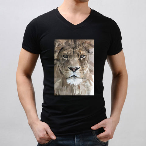 Art Lion Diamond Mosaic Men'S V Neck