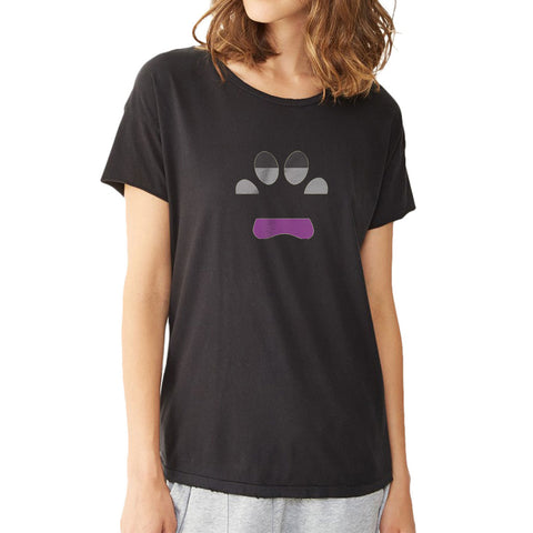 Asexual Pride Dog Paw Short Women'S T Shirt