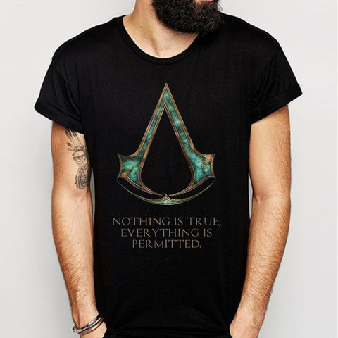 Assassins Creed Brotherhood Motto Men'S T Shirt