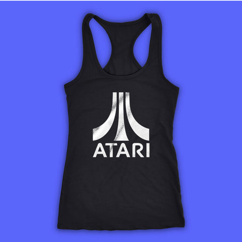 Atari Video Game Retro Logo Women'S Tank Top Racerback
