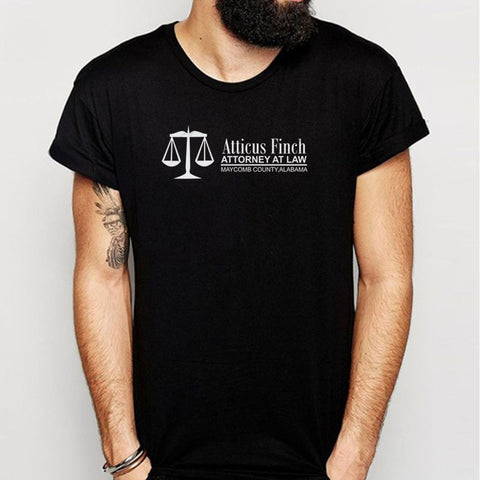 Atticus Finch Attorney At Law To Kill A Mockingbird By Harper Lee Tkam Gift English Teacher Men'S T Shirt