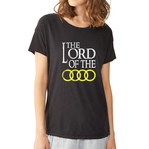 Audi Lord Of The Rings Logo Auto Moto Funny Women'S T Shirt
