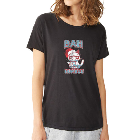 Bah Humbug Cat Christmas Women'S T Shirt