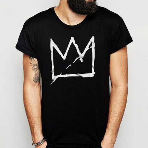 Basquiat Crown Jean Michel Basquiat Graffiti Street Art Andy Warhol Aesthetic Streetwear Tumblr Men'S T Shirt