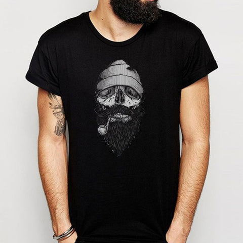 Beard Rare Cool Retro Bearded Skull Sailor Vintage Baseball Men'S T Shirt