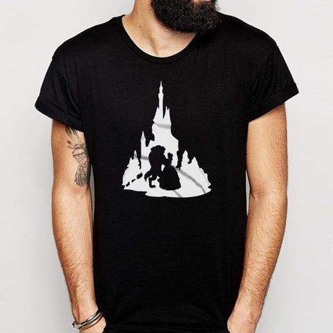 Beauty And The Beast Castle Silhouette Men'S T Shirt