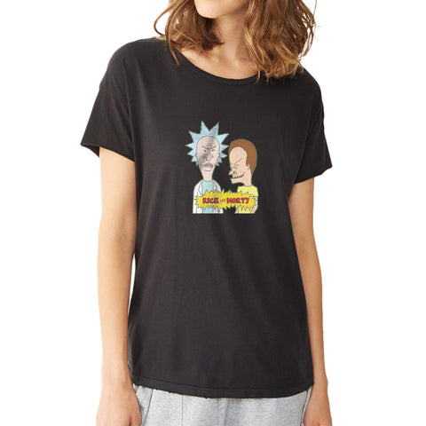 Beavis And Butthead Parody Rick And Morty Women'S T Shirt