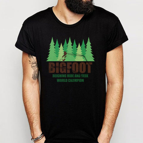 Bigfoot Sasquatch Hide And Seek World Champion Men'S T Shirt