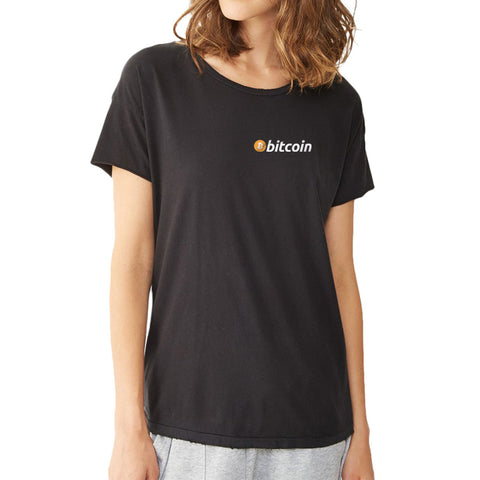 Bitcoin Simple Logo Women'S T Shirt
