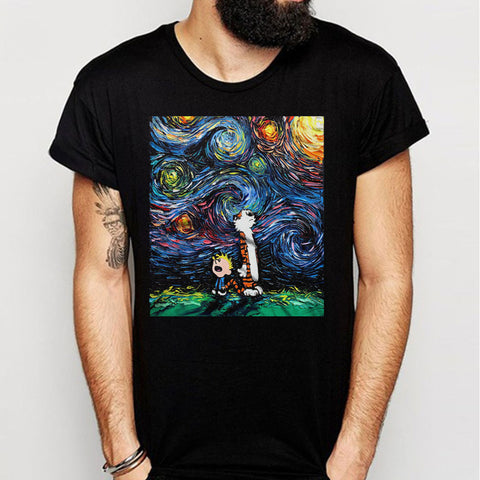 Calvin And Hobbes Starry Night Men'S T Shirt