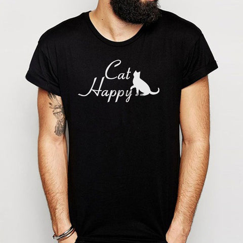Cat Happy Cat Lover Cat Animal Funny Men'S T Shirt
