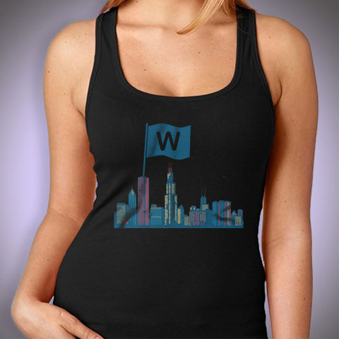 Chicago Cubs Baseball Flying The W Women'S Tank Top