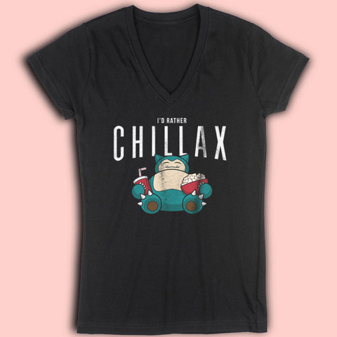 Chillax Like A Women'S V Neck