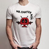 Deadpool Mr Chatterbox Mr Men Marvel Mashup Men'S T Shirt