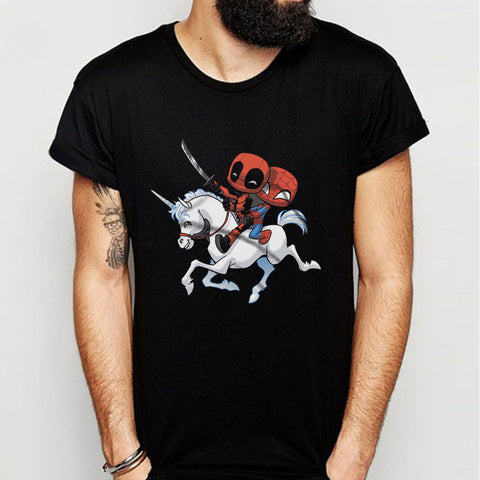 Deadpool Spederman Unicorn Is A Friends Cute Cibi Men'S T Shirt