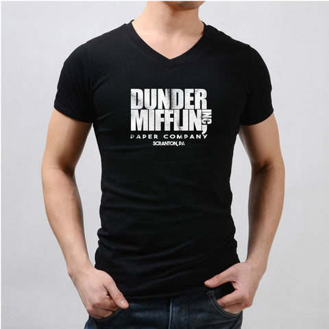 Dunder Mifflin Paper The Office Funny Schrute Men'S V Neck