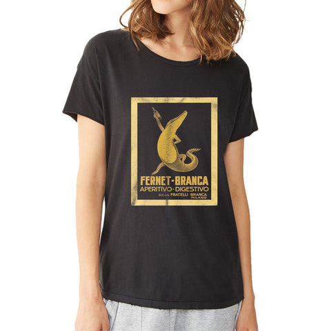 Fernet Branca Crocodile Bar Women'S T Shirt