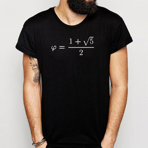 Golden Ratio Phi Formula Math Mathematics Men'S T Shirt