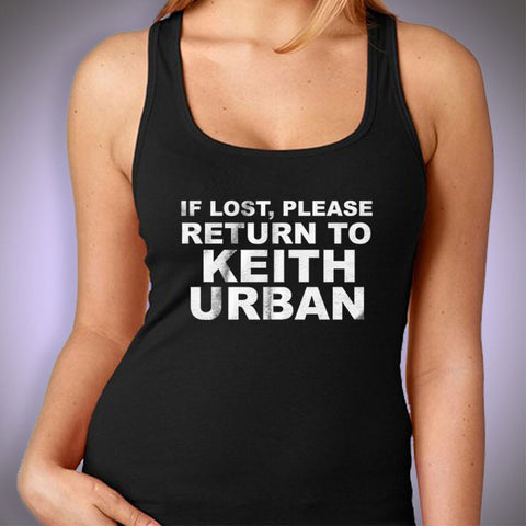 If Lost Please Return To Keith Urban Women'S Tank Top