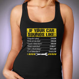 If Your Car Sounds Like, Mens Funny Mechanic Women'S Tank Top