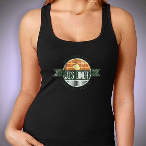 Jj'S Diner  Parks And Rec Pawnee Logo Women'S Tank Top