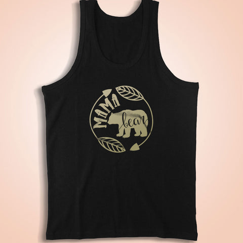 Mama Bear Mom For Mom Handmade Made To Order Gold Vinyl Saying With Saying Men'S Tank Top