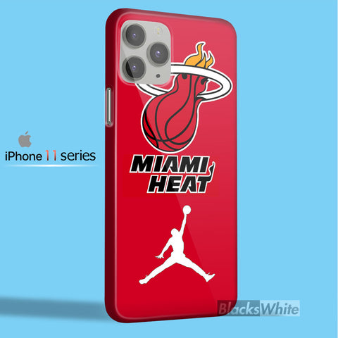 Miami Heat with Nike Jordan   iPhone 11 Case
