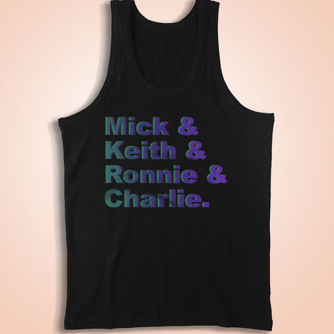 Mick & Keith & Ronnie & Charlie The Rolling Stones Colorful Men'S Tank Top