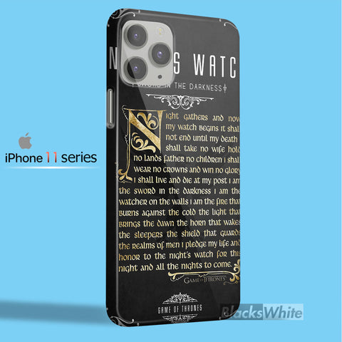 NIGHT'S WATCH   iPhone 11 Case