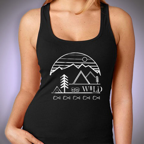 Nature T Shirt, Go Wild! Explore Natures Beauty And Elevate The Day Screen Print On Silky Soft Women'S Tank Top