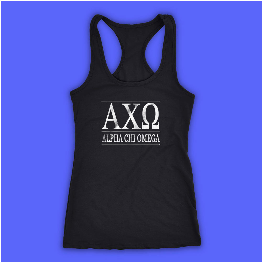 New Alpha Chi Omega Alumna Running Hiking Gym Sport Runner Yoga Funny  Thanksgiving Christmas Funny Quotes Women\'S Tank Top Racerback