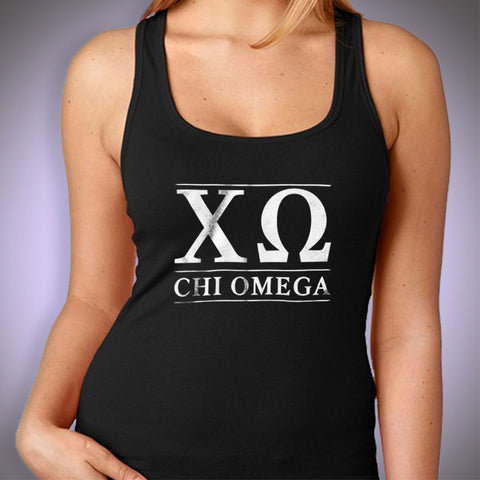 New Chi Omega Logo Alumna Running Hiking Gym Sport Runner Yoga Funny Thanksgiving Christmas Funny Quotes Women'S Tank Top