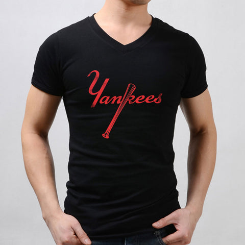 New York Yankees Baseball Logo Men'S V Neck