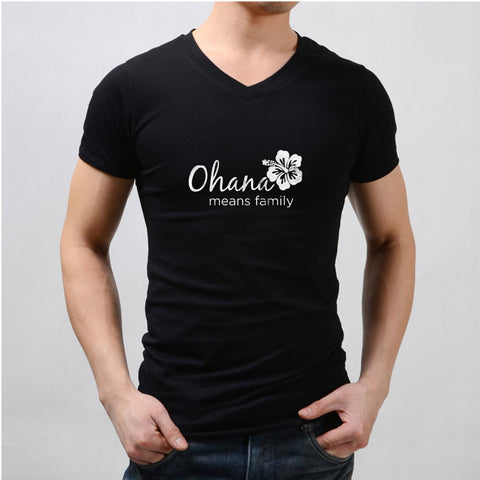 Ohana Means Family Disney Lilo And Stitch Disney Quotes Men'S V Neck