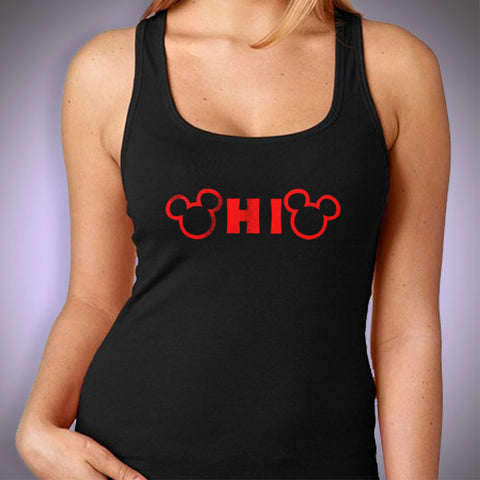 Ohio State Mickey Mouse T Shirt Women'S Tank Top