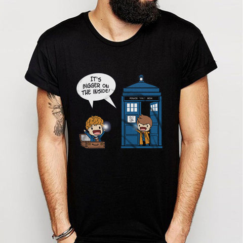 Police Box It'S Bigger On The Inside Men'S T Shirt