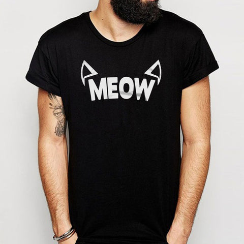 Pastel Grunge Styled Meow Cat Ears Kawaii Men'S T Shirt