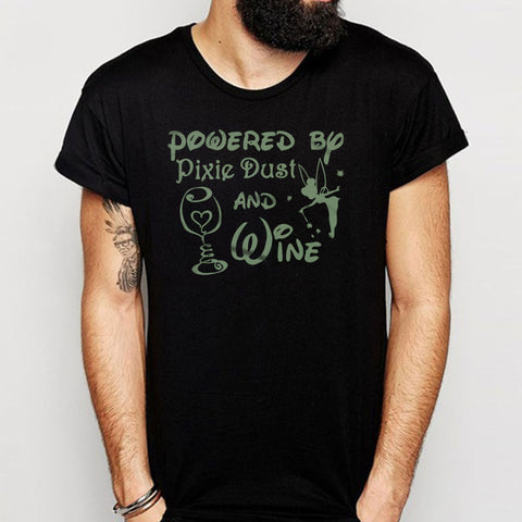 Powered By Pixie Dust And Wine Disney Tinkerbell Men'S T Shirt
