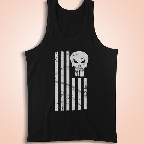 Punisher American Flag Army Men'S Tank Top