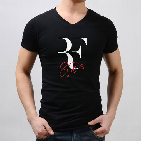 Rf Logo Roger Federer Perfect Tennis Men'S V Neck