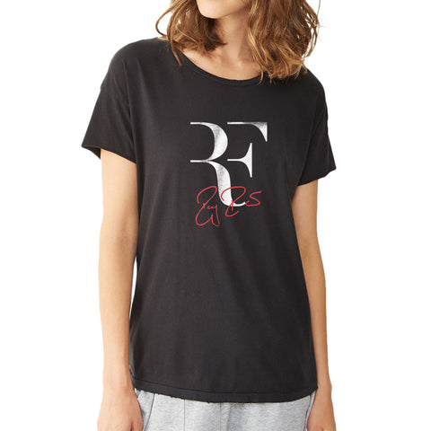Rf Logo Roger Federer Perfect Tennis Women'S T Shirt
