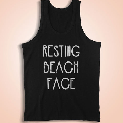 Resting Beach Face Vacation Men'S Tank Top