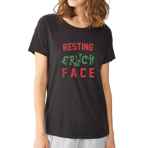 Resting Grinch Face Christmas Women'S T Shirt