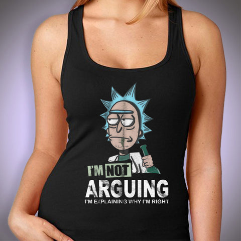 Rick And Morty Shirt Arguing Women'S Tank Top