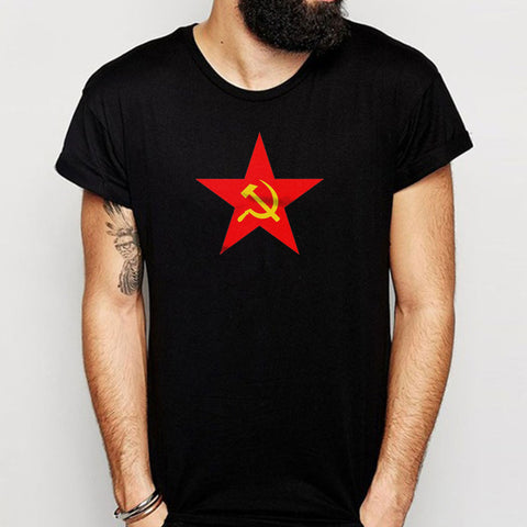 Russian Hammer And Sickle Cccp Red Star Soviet Men'S T Shirt